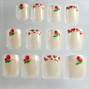 China Ivory French Manicure Fake Nails / French False nail professional on sale
