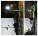 High power 100w solar $ wind hybrid off grid power street lighting > 90lm for urban roads
