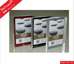 China Frameless Clear Acrylic Photo Frames Rectangle10MM Thick With Magnet on sale
