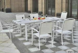 Quality Aluminium Outdoor Patio Furniture 7 Piece Table And Chairs For Dining / Seating for sale