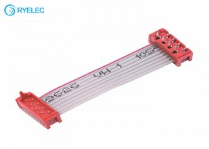 China 8 Pin 20 Pin UL2651 Flat Ribbon Cable Assembly Red Idc Socket Connector on sale