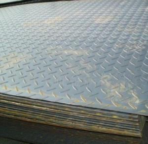 China Galvanized / galvalume ASTM A36, Q235B, Q345B Hot Rolled Checkered Steel Plate / Coils on sale
