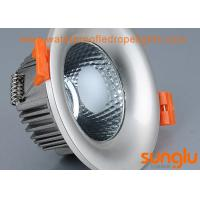 China Epistar 18W Silver Plated Warm White LED Downlights For Commercial Lighting on sale
