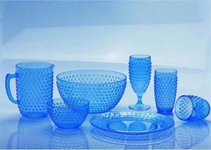Blue Plastic Kitchen Wares Peral Like Series XJ 2K273 8