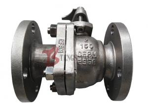 China Stainless Steel Soft Seated Ball Valve , CF8M Manual Ball Valve FB 150LB on sale
