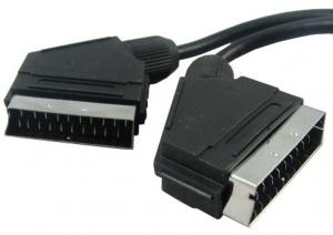 China Copper SCART To SCART Cable A / V Cable Assemblies For Euro TV on sale