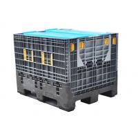 Grey Industrial Plastic Storage Boxes / Stackable Storage Bins For Vegetable Food