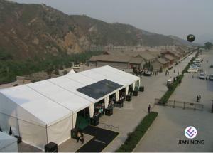 China Huge Exhibitions Tent With Strong ABS Walls, Curved Tent Waterproof on sale