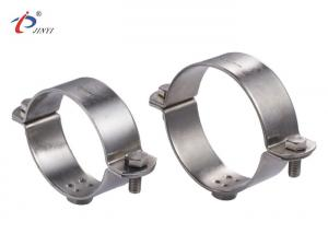 China Polished Stainless Steel 2.5mm Thickness Pipe Clamp With Nut on sale