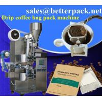 drip coffee packaging machine with outer envelope, drip coffee packing machine