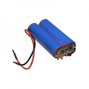 China Li-FePO4 18650 2S1P 6.4V 1400mAh Battery Pack with PCB and Flying Leads on sale