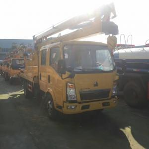 China SINO TRUK HOWO 4*2 LHD 16m hydraulic bucket truck for sale, best priceHOWO light duty 16m aerial working platform truck on sale