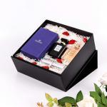 Luxury Black Matte folding cardboard gift boxesCustom wedding gift box