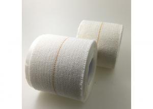 China White Cotton Sports Bandage Tape Feather Edge Hot Melt Adhesive Good Elasticity on sale