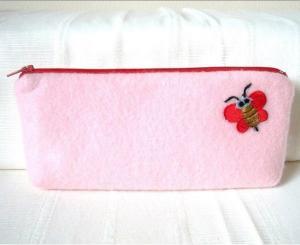 China direct china  wholesale customized felt zipper pencil case manufacturer on sale