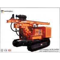 Crawler Hydraulic Solar Drill Rig Machine 45° Climb Ability 300 Posts / Day