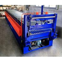 China 0.25-0.6mm Corrugated Roof Making Machine / Corrugated Sheet Roll Forming Machine on sale