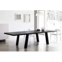 Solid Wooden Minimo Modern Dining Room Tables Rectangle Black Colors