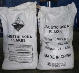 China GB209-2006 Sodium Hydroxide Flakes / Caustic Soda Flakes Industrial Grade on sale