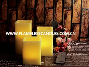 China Square Flameless Wax Battery Operated LED Candles with Remote Control Wholesale on sale