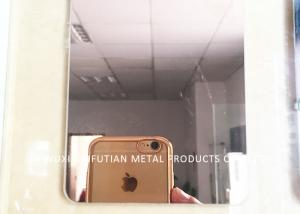 China Gold Mirror Finish Stainless Steel Sheet 4x8 / SS 304 Sheet For Elevator Decoration on sale