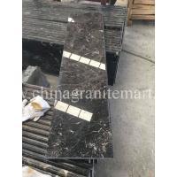 China Dark Emperador  Marble stair step stone stair Dark Brown marble stairs Brown marble risers
