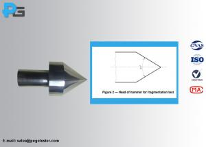 China 75g Fragmentation Test Hammer with Tungsten Carbide Tip for Glass According to  IS015717 on sale