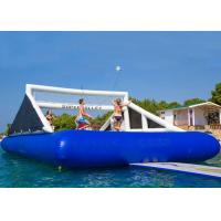 Ourdoor Inflatable Sports Games Blue Water Inflatable Volleyball Court