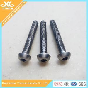 China Full thread Gr5 inch titanium allen socket head bolts on sale