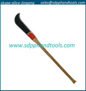 China 12 bush hook with 36 straight wood handle, ditch bank blade factory from china on sale