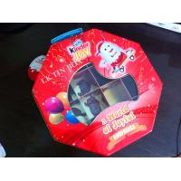 Octangle Packaging Metal Tin Box Ferrero Kinder Joy Toy With Divder Inside And Pvc Window