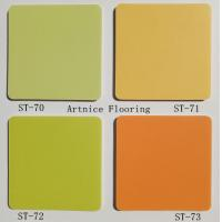 PVC Flooring , PVC Composite Flooring, commercial pvc flooring - green and yellow color