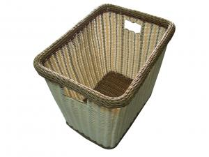 China Eco-Friendly Poly Rattan Laundry Basket Rectangle With Handle on sale