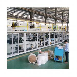 China Automatic full servo I shape baby diaper machine customized double ears pampers making machine price on sale