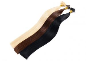 China Double Drawn Pre Bonded Hair Extensions , Pre Bonded Indian Hair Extensions For Black Women on sale