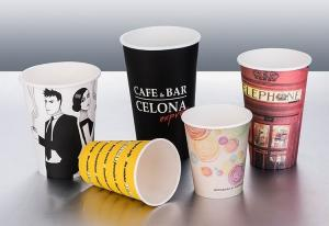 China Single Wall Vending Paper Cups Multi - Colors With Neat Cutting Edge on sale