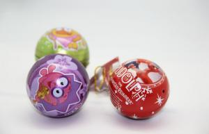 China Full Color Christmas Gift Tin Boxes For Packaging Ball Shaped FDA ROHS on sale