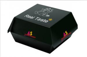 China Custom Made Matte Black Paper Box Fast Food Packaging for Restaurant on sale