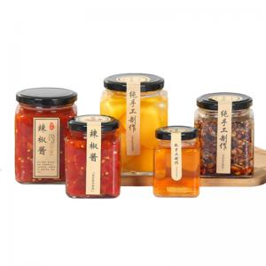 China Transparent Glass Jam Jar Sealed Cans Lids With A Plastisol Liner Customized on sale