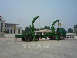China TITAN load and off-load a 40ft container side trailer with 3 axles for sale on sale