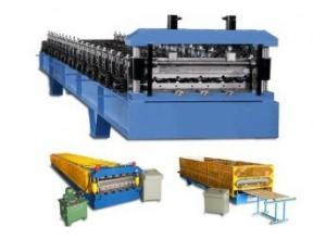 China PLC Control Roof / Wall Panel Color Steel Plate Roll Forming Machinery CE Approved on sale