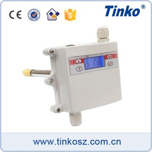 China Pipeline mounting 4-20mA temperature transmitters with LCD display on sale
