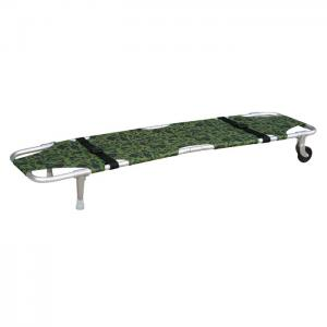 China Aluminum Alloy 160Kgs Armygreen Rescue Folding Stretcher With Castors on sale