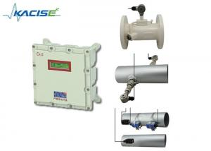 China High Accuracy Explosion Proof Flow Meter , Wall Type Ultrasonic Liquid Flow Meter on sale