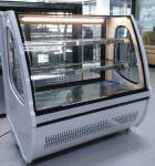 冷やされていたパン屋の表示乾燥した場合によって曲げられるガラス