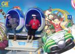 Colorful Cabin 2 Seats 9D Egg VR Cinema Full Automatic Mode For Amusement Park