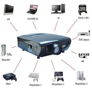China DG-747 led HD ready home theater Video game DVD movie projectors for students on sale