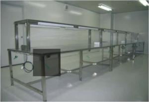 China ESD Anti Static Clean Room Equipment Two Layer Stainless Steel Work Bench Table on sale