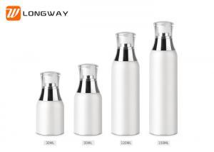 China 0.2ml Dosage Acrylic Plastic Airless Pump Bottles Screw On Finish Type on sale
