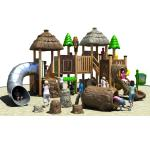 Durable Outdoor Playground Equipment Enviromental WPC Made In The Tree House Design